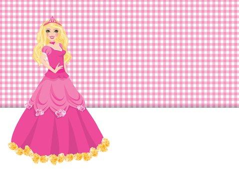 YVON barbie eigen foto uitnodiging 2