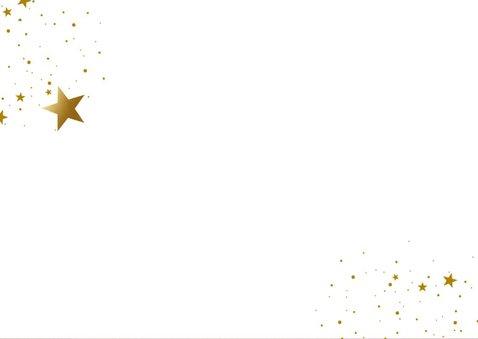 Zakelijke kerstkaart oudroze met gouden sterren 2