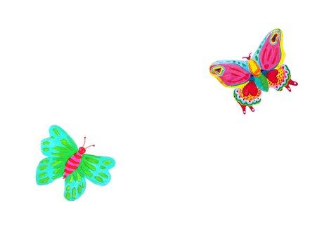 Zomaar kaart vlinders 2