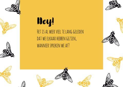 Zomaarkaart Hey busy bee 3