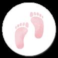 Sluitzegel geboorte roze voetjes meisje
