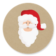 kerstman sluitzegel