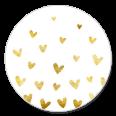 Sluitzegel gouden hartjes