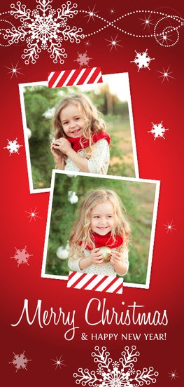 Kerstkaart met foto's
