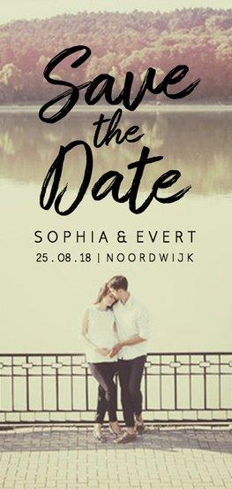 Langwerpige trouwkaart - save the date