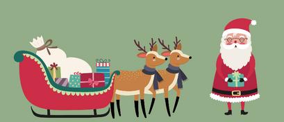 Arrenslee, de kerstman & rendieren