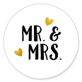 Sluitsticker mr. & mrs.