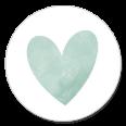 Sluitsticker groen hartje jongen