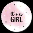Sluitsticker it's a girl meisje
