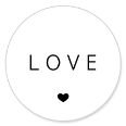 Sluitsticker love