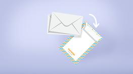 Enveloppen in verschillende kleuren