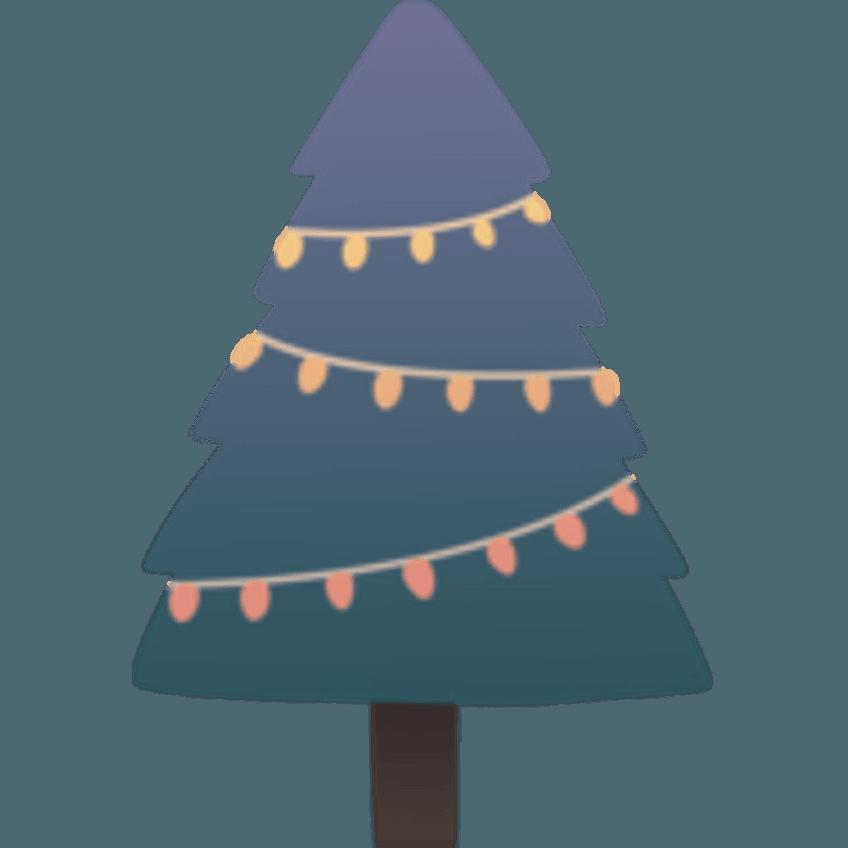 Figuur kerstboom voor op een kerstkaartje