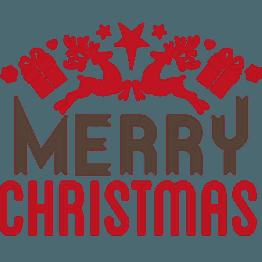 Figuur kerstkaart merry christmas logo