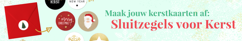 Kerstkaart sluitzegels - stickers voor op je envelop